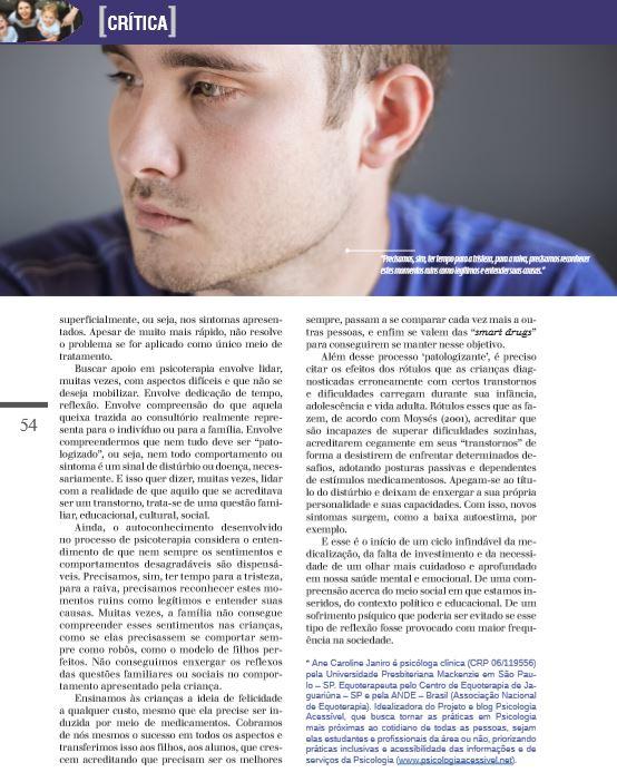 REV PSICOLOGIA EDITORA MYTHOS - VIDA MEDICALIZADA 4